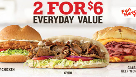 Arby's 2 For $6 Now Includes GREEK GYRO
