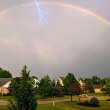 Daily Pic – Lighting AND Rainbow