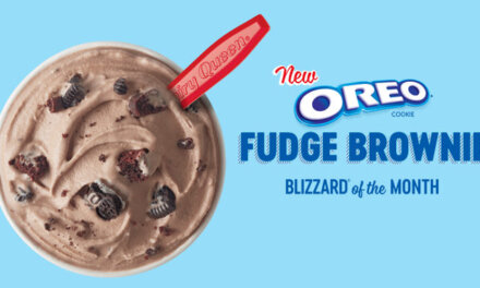Dairy Queen's Blizzard of the Month is OREO FUDGE BROWNIE