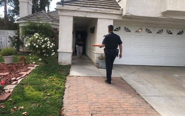 POLICE DELIVER PIZZA In California